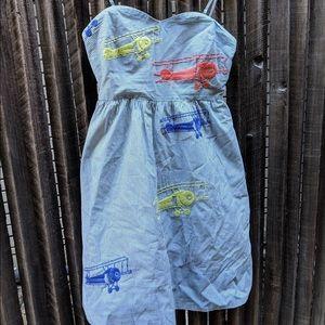 Anthropologie Biplane Strapless Dress